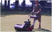 Landcare team cutting grass