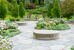 A beautiful landscape design of a garden