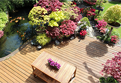 Landscape design of a garden patio