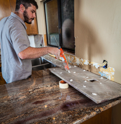 kitchen remodelling being done by an expert