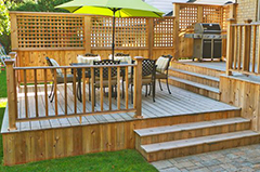 A Landscape Construction of Wooden Patio