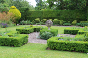 A well pruned beautiful landscape garden