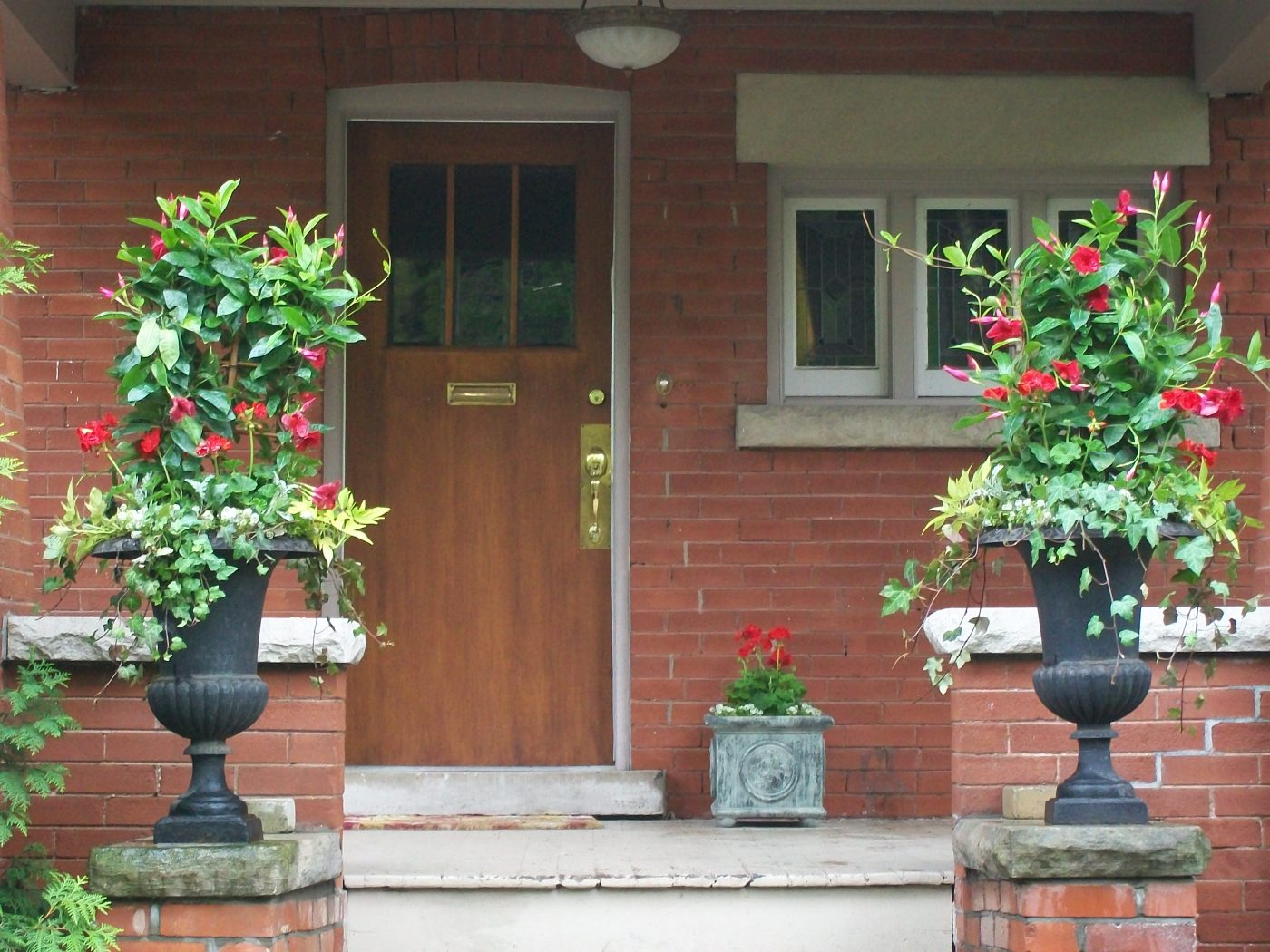 residential summer planters