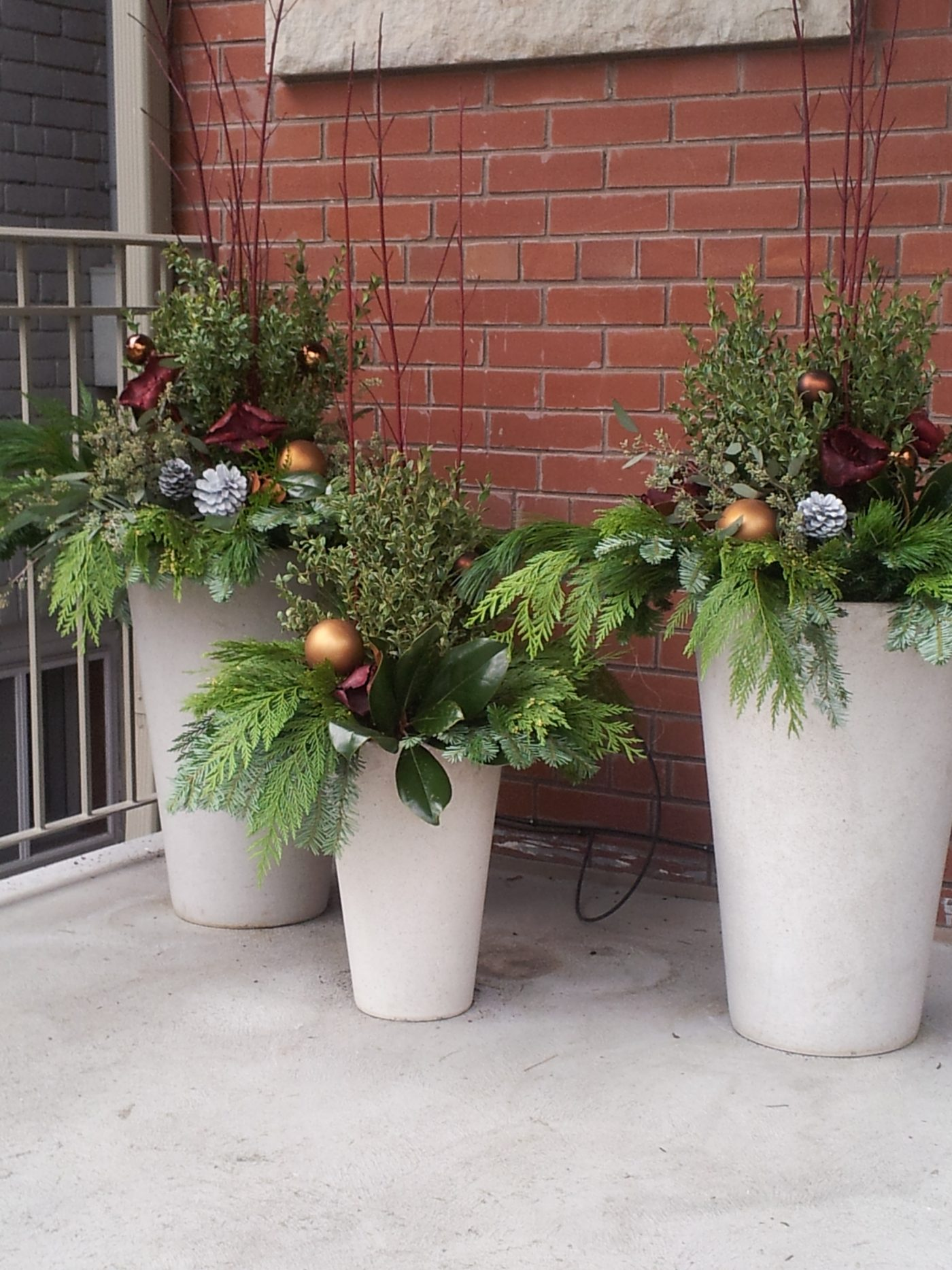 residential winter planters