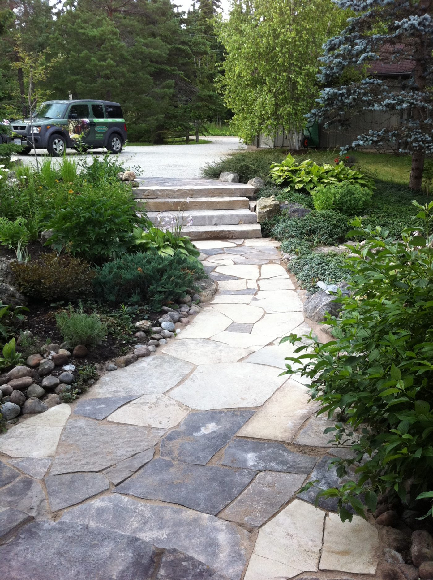 Maple valley-front walkway
