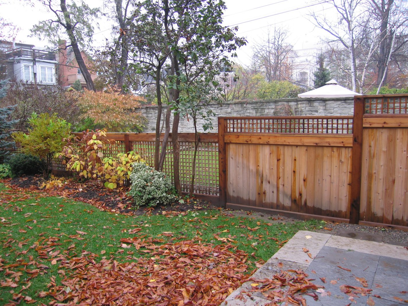 Residential Cedar Fence Construction II