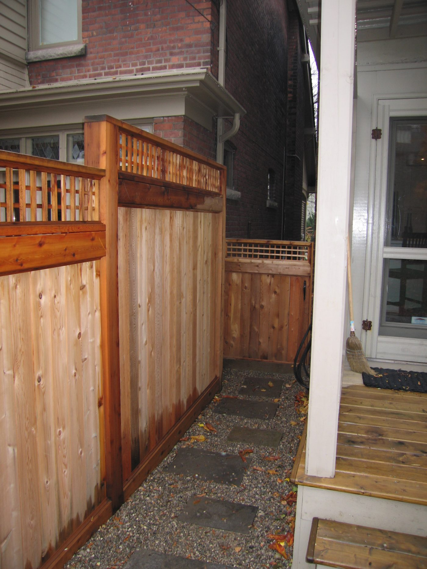 Residential Cedar Fence Construction III