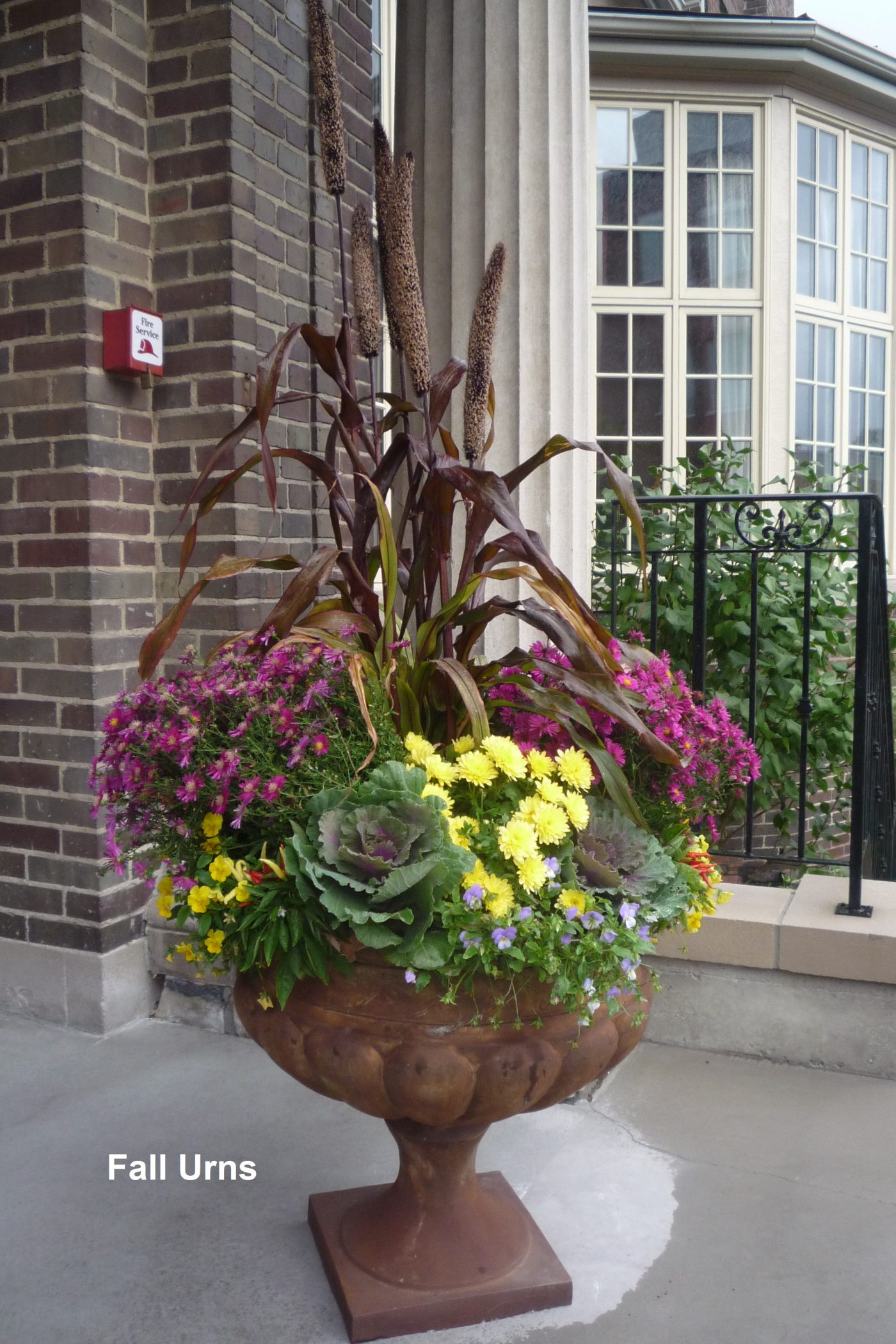 titled nice fall urn